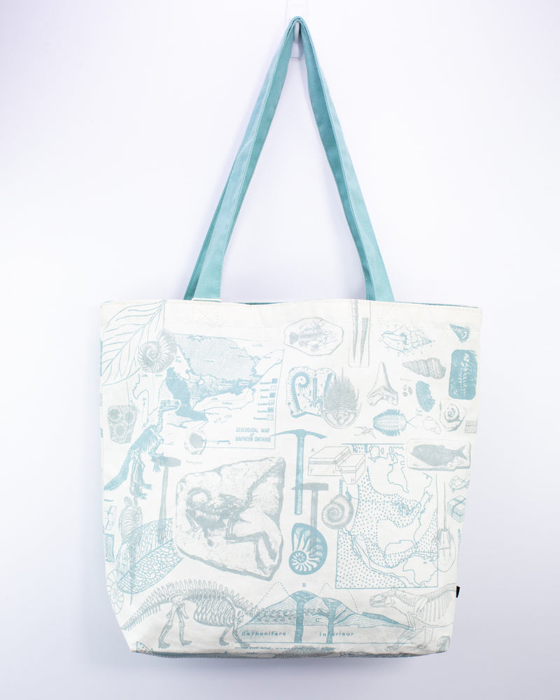 Paleontology Canvas Shoulder Tote
