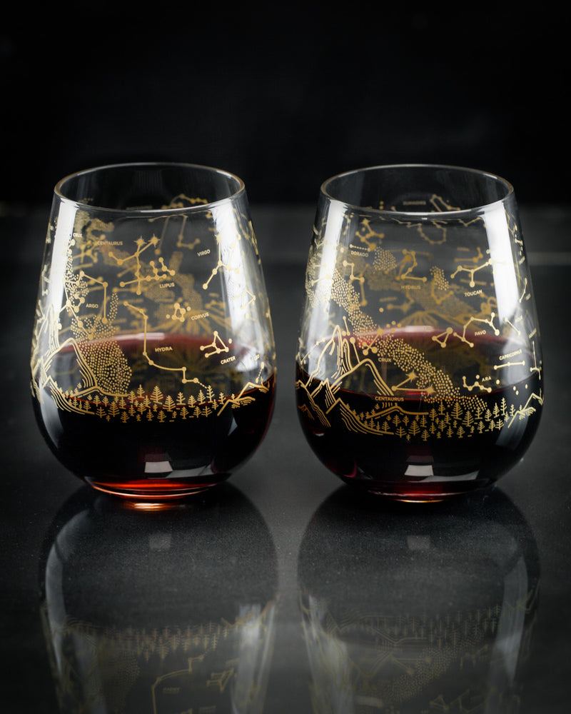 Southern Hemisphere Night Sky Wine Glasses
