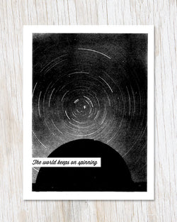 The World Keeps on Spinning Greeting Card - Cognitive Surplus