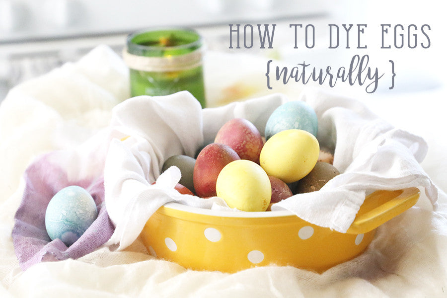 NATURALLY DYED EGGS WITH ORGANIC INGREDIENTS