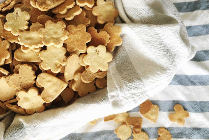 HOMEMADE COCONUT OIL + PEANUT BUTTER DOG TREATS