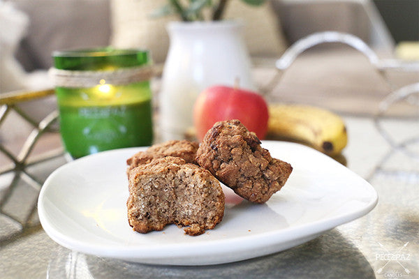 VEGAN PROTEIN BANANA APPLE MUFFINS