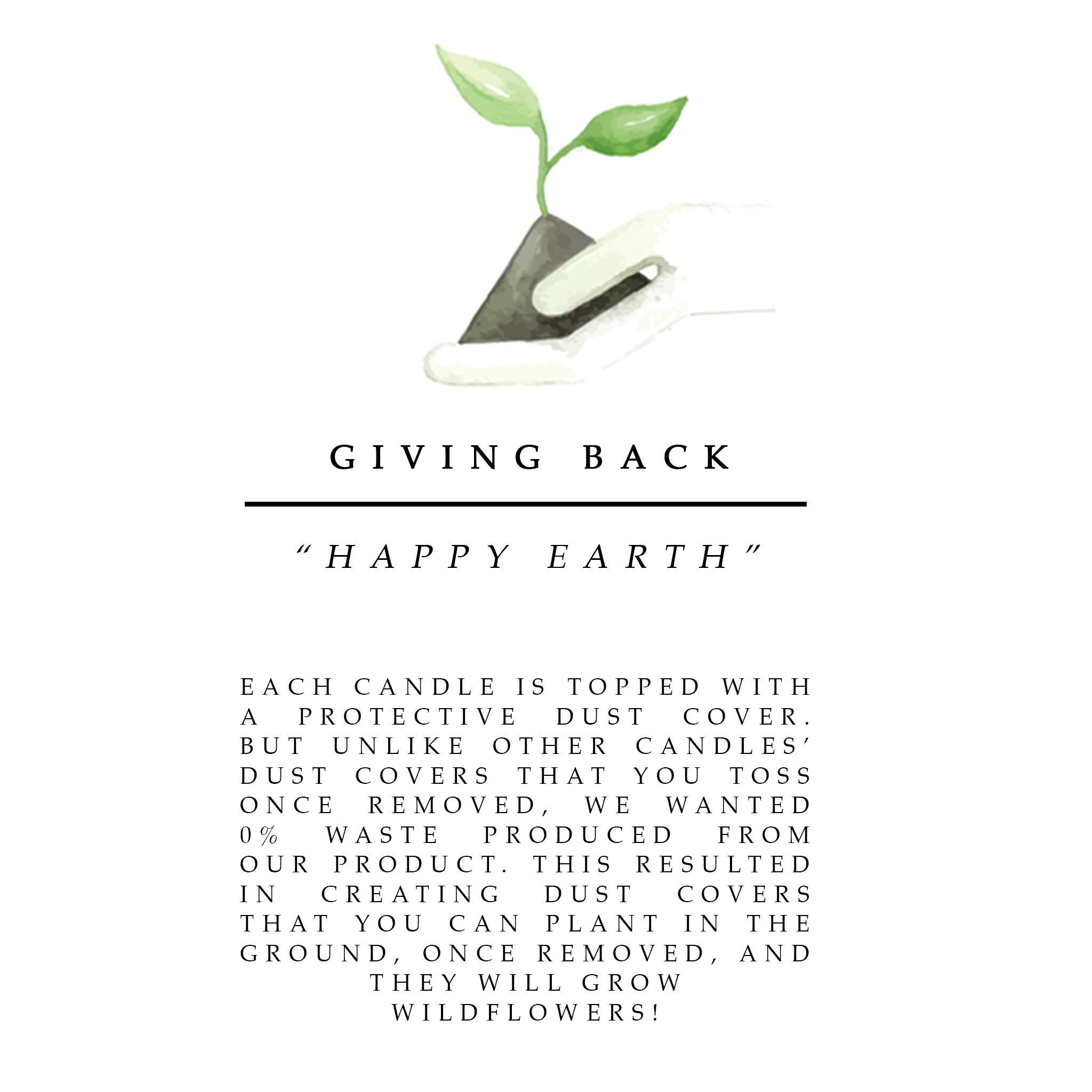 plantable paper give back to earth ecofriendly candles natural candles