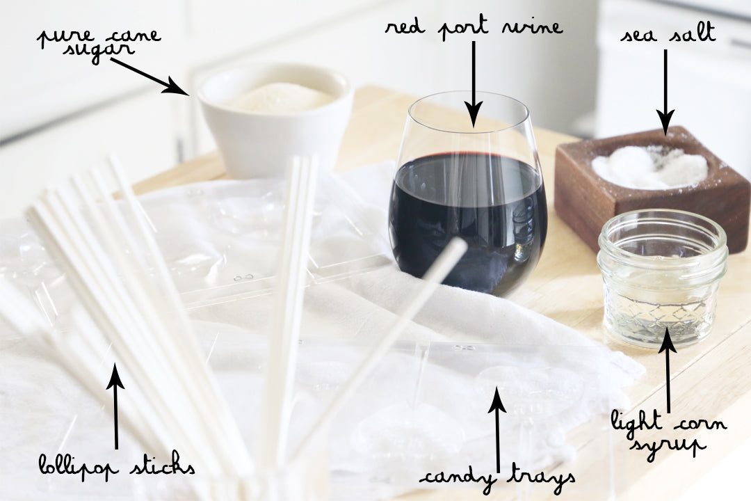 red wine lollipop recipe ingredients