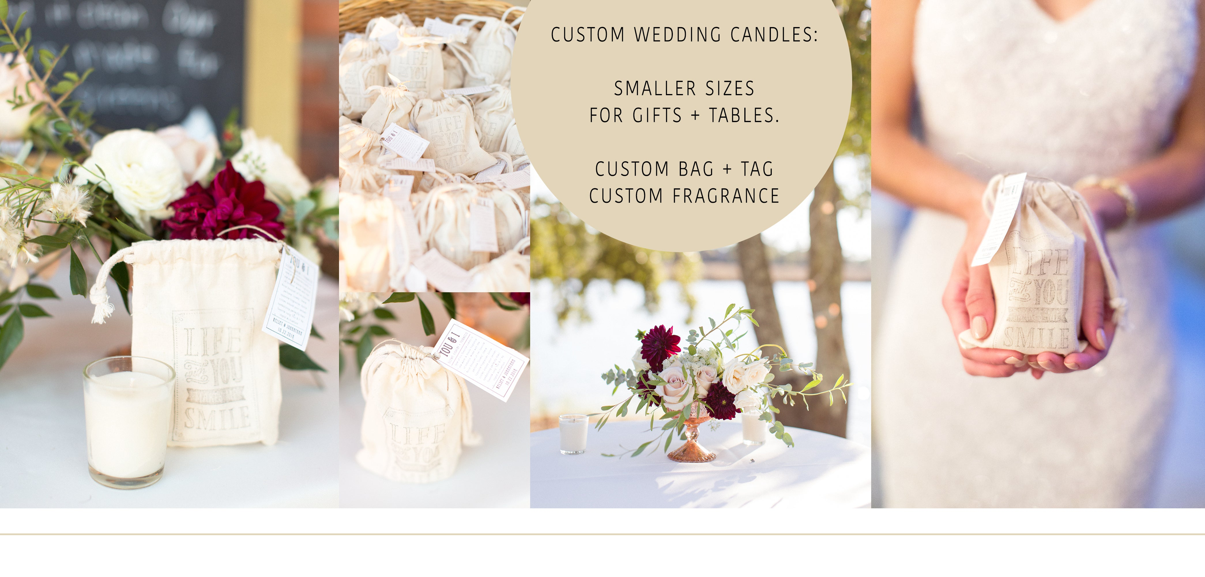 custom wedding candles custom wedding gifts