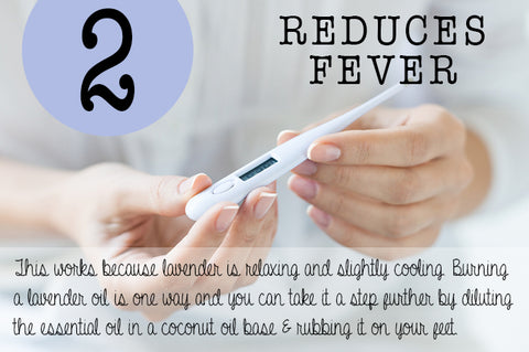 Lavender reduces fever
