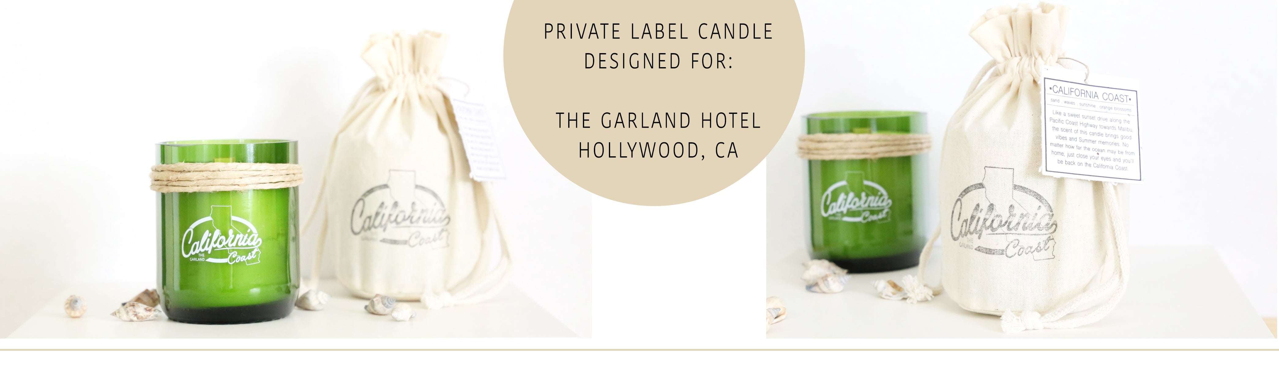 Custom and private label candles for your retail shop or next event