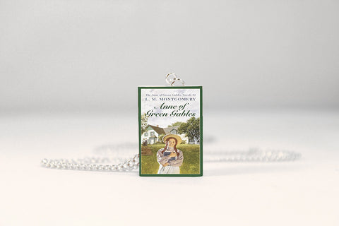 anne of green gables miniature book necklace