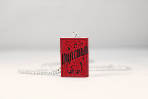 dracula miniature book necklace jewelry