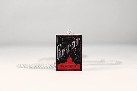Frankenstein Miniature Book Necklace