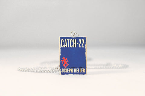 Catch-22 Miniature Book Necklace