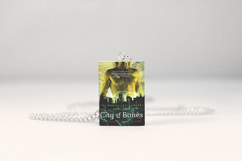City of Bones Miniature Book Necklace