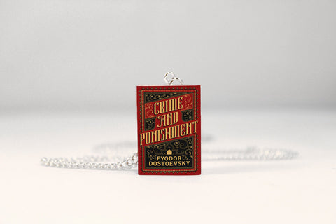 Crime and Punishment Miniature Book Necklace
