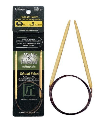 "US 8 (5.0mm) 16"" Takumi Circular Bamboo Knitting Needles"