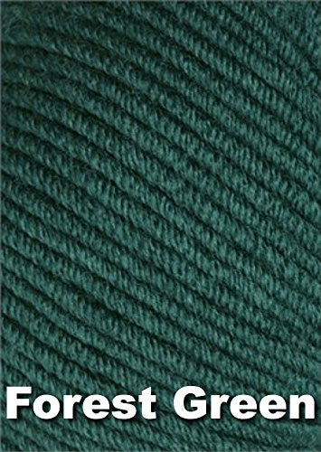 Karabella Aurora 8 Worsted Weight Extra Fine Merino Yarn - Forest Green