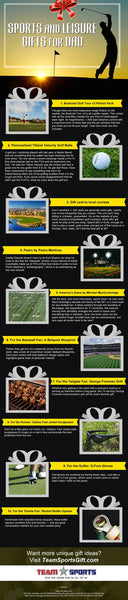 Sports and Leisure Gifts for Dad [infographic]