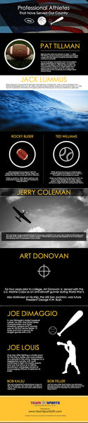 Professional Athletes That Have Served Our Country [infographic]