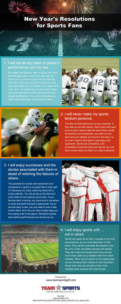 New Year's Resolutions for Sports Fans [infographic]