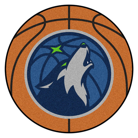 Minnesota Timberwolves Basketball Area Rug