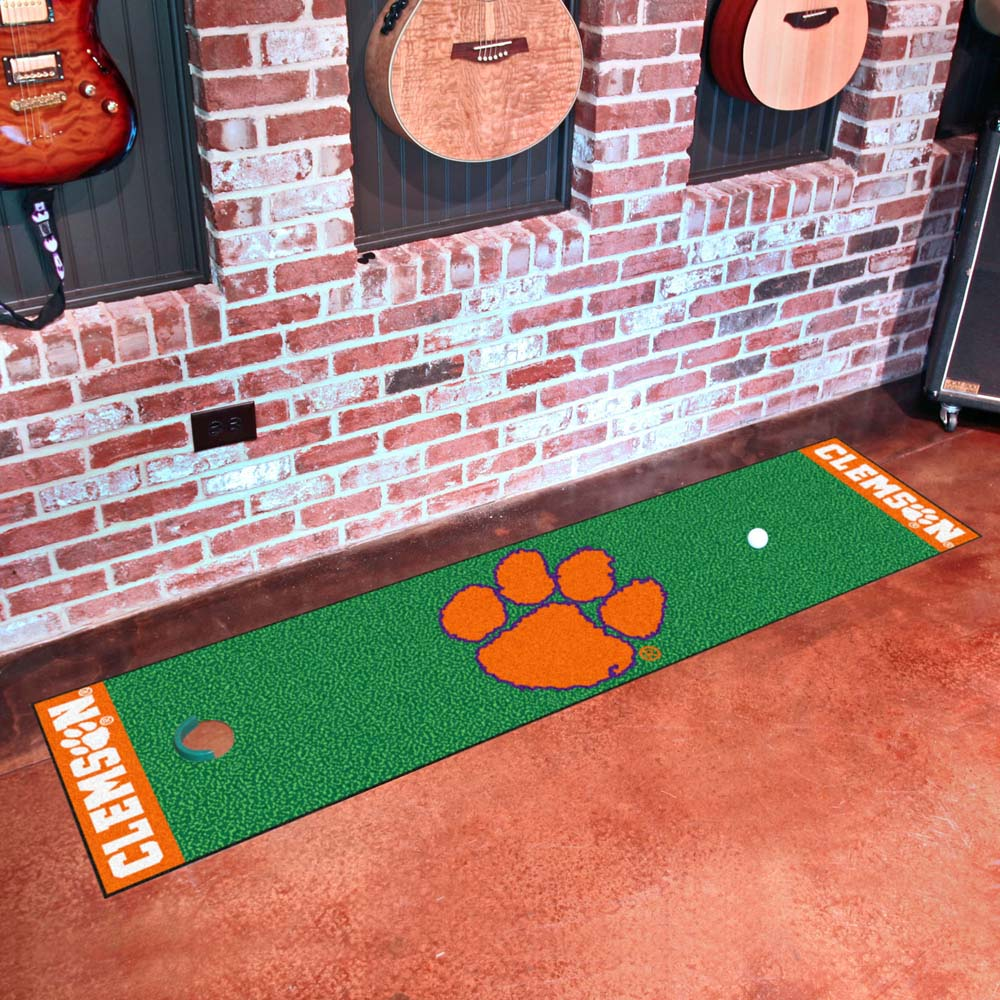 Clemson Tigers Golf Putting Green Mat