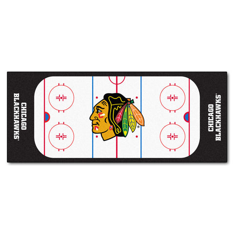 Chicago Blackhawks Hockey Rink Runner Rug