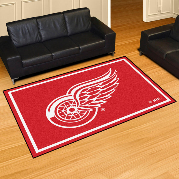 Detroit Red Wings Ultra Plush Area Rug 5x8