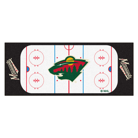 Minnesota Wild Hockey Rink Runner Rug