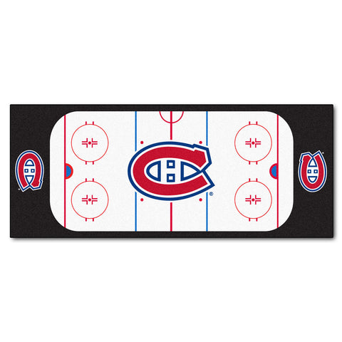 Montreal Canadiens Hockey Rink Runner Rug