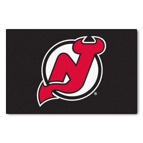 New Jersey Devils Black Tufted Area Rug