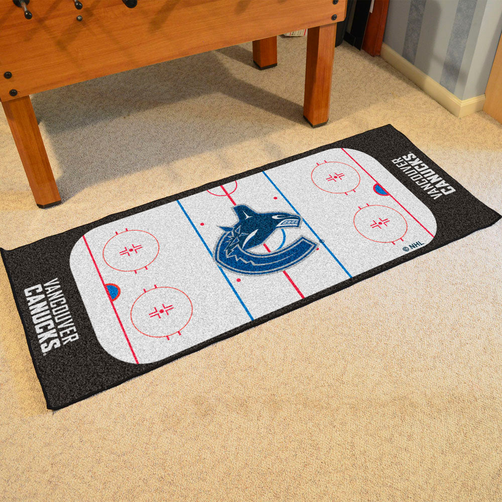 Vancouver Canucks Hockey Rink Runner Rug