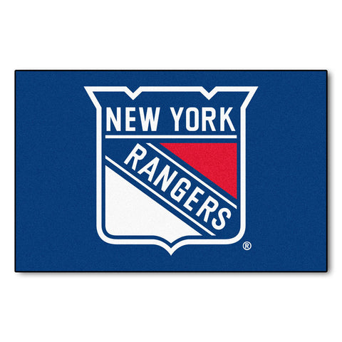 New York Rangers Blue Tufted Area Rug
