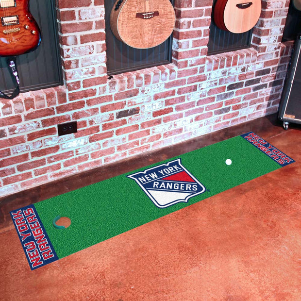 New York Rangers Golf Putting Green Mat