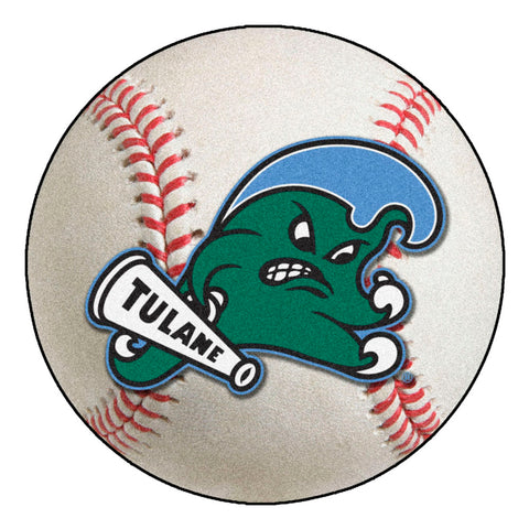 Tulane Green Wave Grand Slam Baseball Area Rug