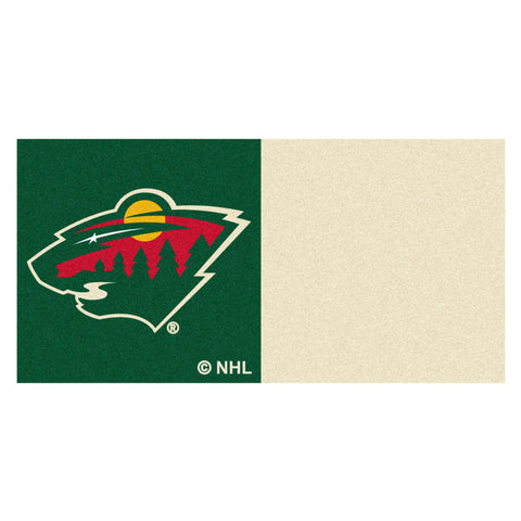 Minnesota Wild Green/Gold Team Proud Carpet Tiles