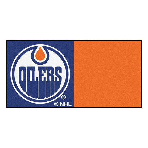 Edmonton Oilers Blue/Orange Team Proud Carpet Tiles