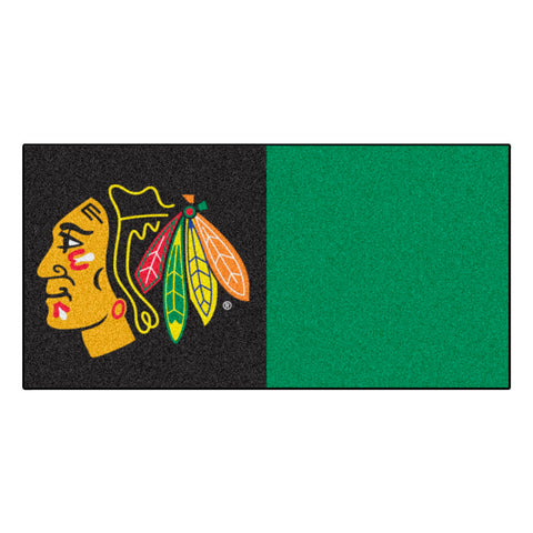 Chicago Blackhawks Black/Green Team Proud Carpet Tiles