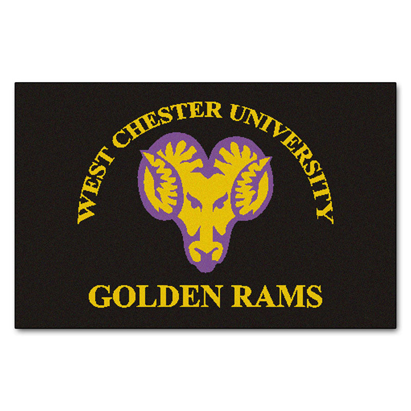 West Chester Golden Rams Team Logo Accent Rug