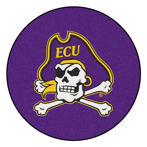 East Carolina Pirates Team Emblem Throw Rug