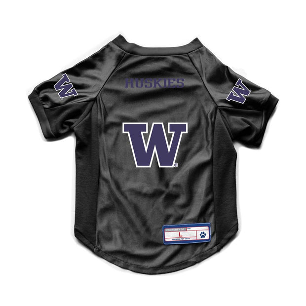 University of Washington Huskies Pet Stretch Jersey Back