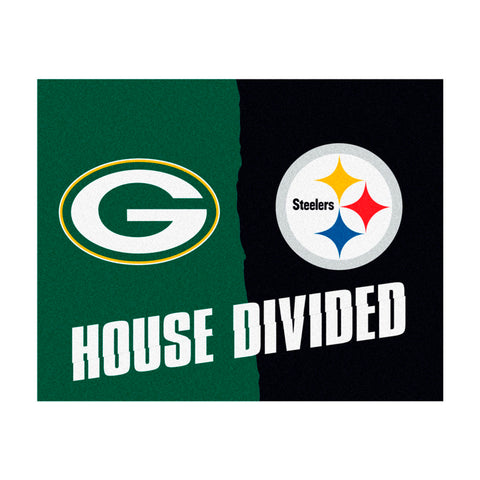 Green Bay Packers vs Pittsburgh Steelers Rivalry Rug