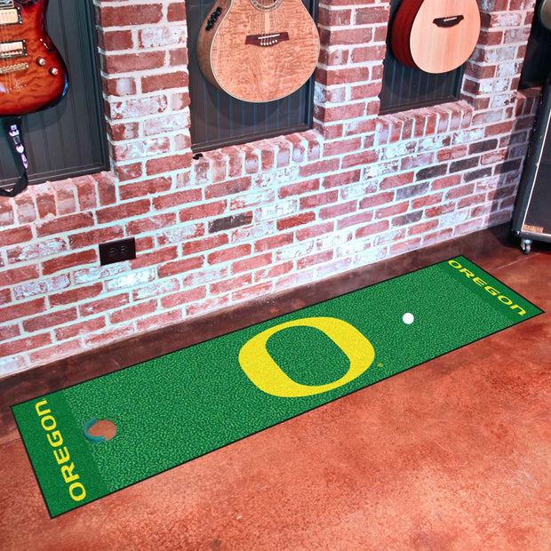 Oregon Ducks Golf Putting Green Mat
