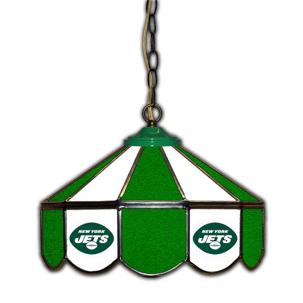 "New York Jets 14"" Stained Glass Pub Light"