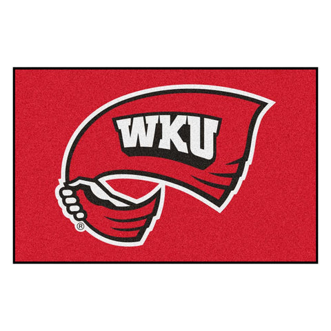 Western Kentucky Hilltoppers Black Tufted Area Rug