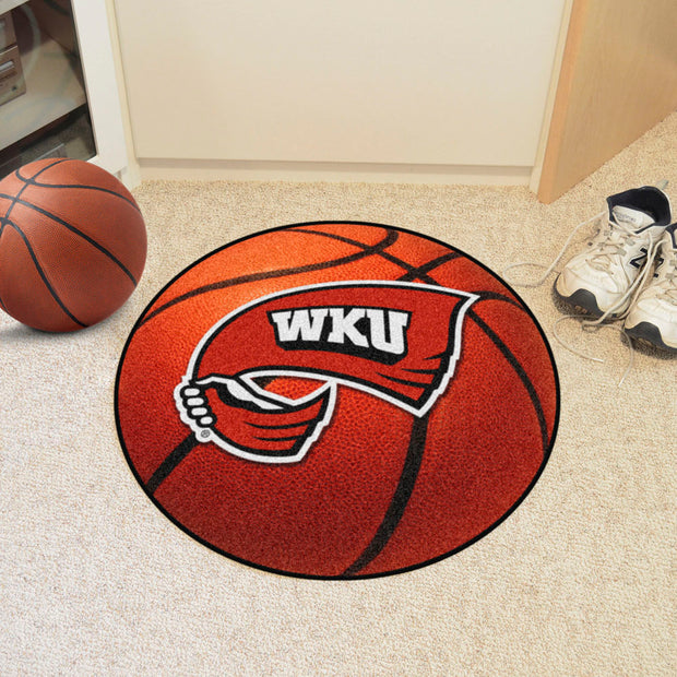 Western Kentucky Hilltoppers Basketball Area Rug in Room