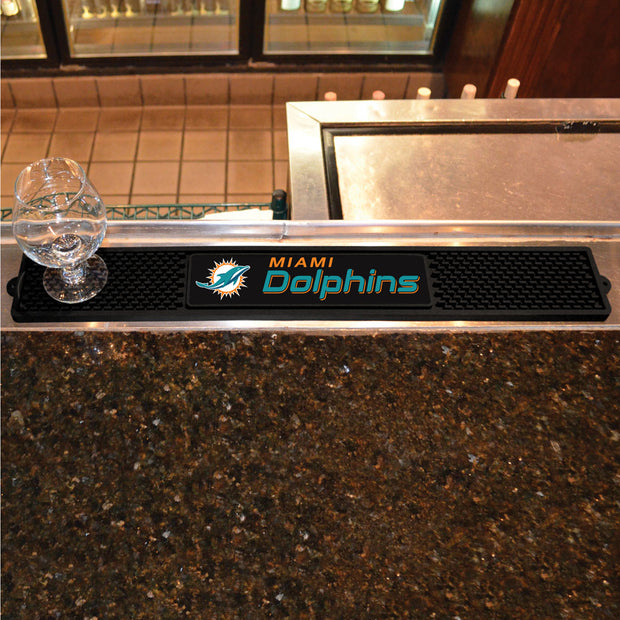 Miami Dolphins Drink Mat on Bar