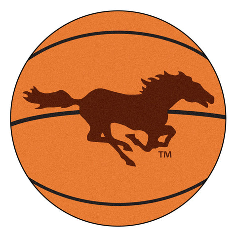 Southwest Minnesota State Mustangs Basketball Area Rug