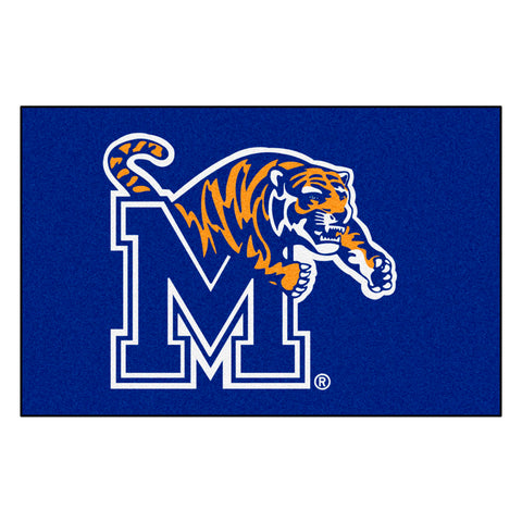 Memphis Tigers Gray Tufted Area Rug