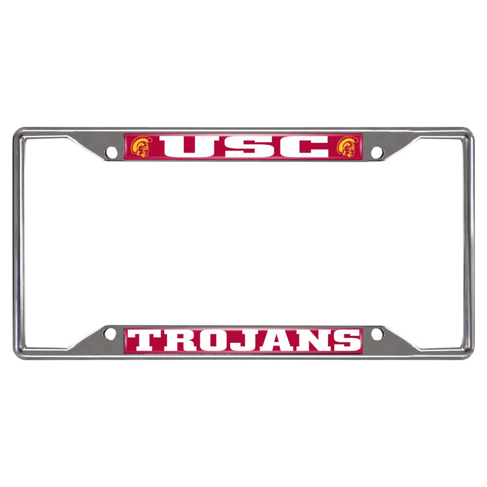 USC Trojans Mirror Finish License Plate Frame