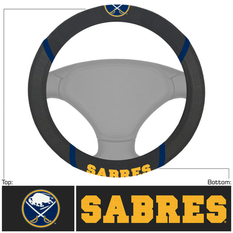 Buffalo Sabres Faux Suede Steering Wheel Cover