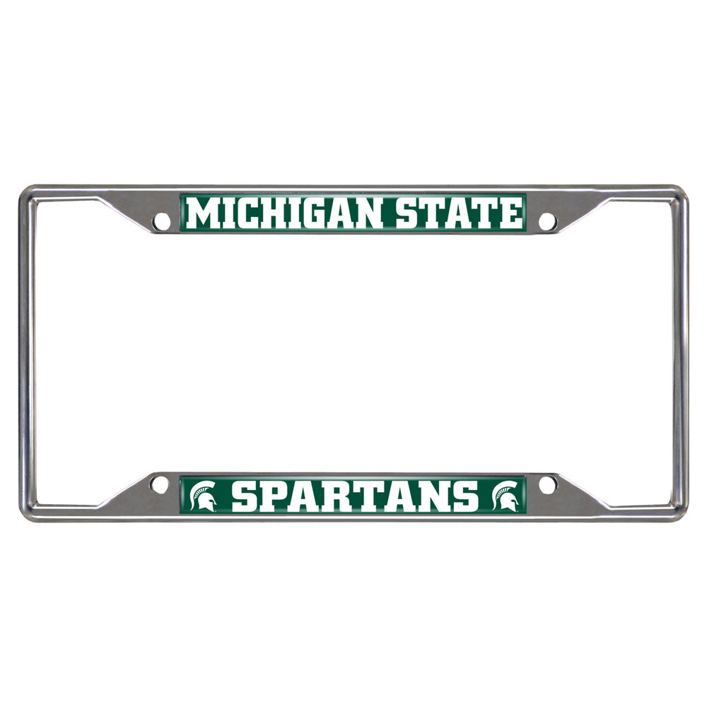 Michigan State Spartans Mirror Finish License Plate Frame